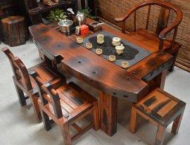 古典船木茶台 老船木家具