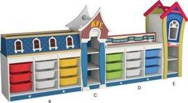 厂家直销木制儿童玩具柜 幼儿园专用玩具收纳柜组合玩具柜