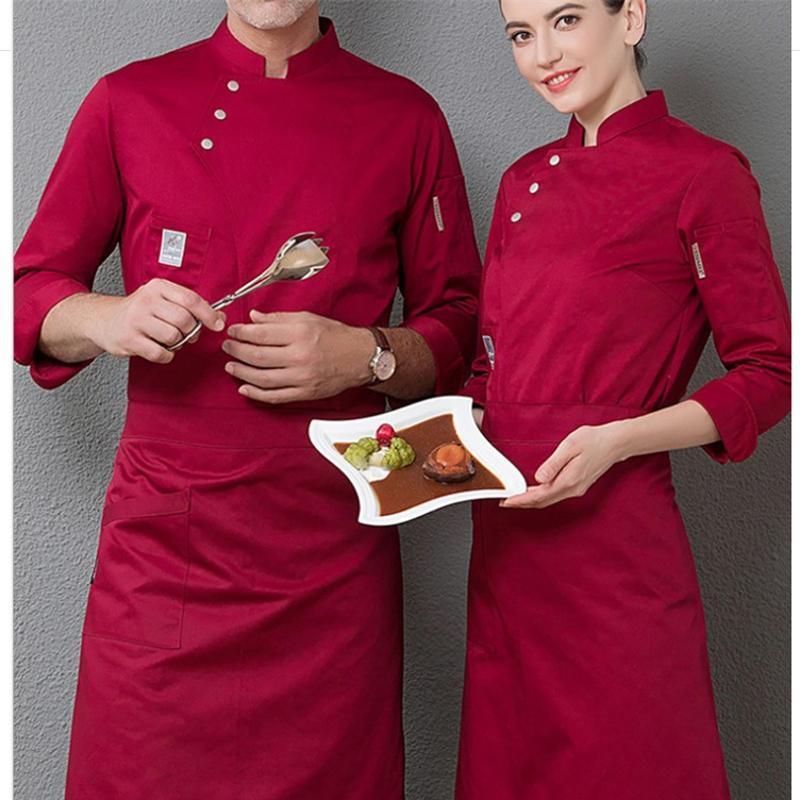 男厨师服长袖新款春装烘焙糕点西点师七分袖工作服甜品店面包房