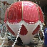 玻璃钢透光热气球雕塑圣诞节美城商场展示热气球发光雕塑定制厂家