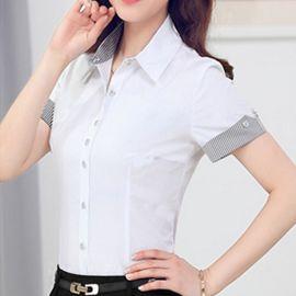 显瘦工作服OL正装夏韩版休闲衬衫女短袖新品职业装半袖衬衣大码