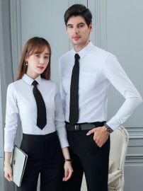 男女职业同款长袖衬衫白领工作服修身商务正装气质韩版免烫衬衣士
