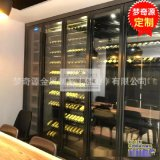 酒店別墅會所酒架 不鏽鋼酒櫃定製 304不鏽鋼恆溫雪茄櫃高端定製