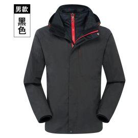 2019新款定做户外服装两件套男式冲锋衣防水透气保暖工装绣字