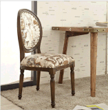 歐式實木餐椅休閒圓背椅椅酒店軟墊辦公咖啡廳奶茶店椅子批發