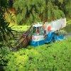 广西省水库生长植物水浮莲收割打捞机械清理方案