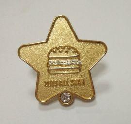 带钻徽章制作价格,哪里的定做企业胸章