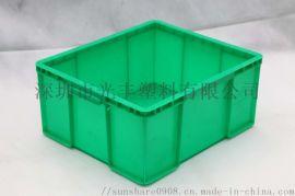 专用斜插式物流周转箱白色带盖连盖塑胶储物箱流程箱