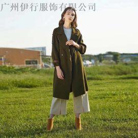 朗美睿双面呢大衣18冬季新款品牌折扣尾货哪有货源