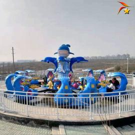 夏季带水公园游乐设备激战鲨鱼岛