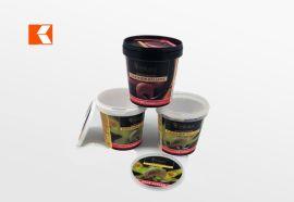 500ml食品级一次性雪糕杯 绿色环保