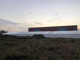 大型戶外演出活動篷房搭建租賃廠家直銷紅色婚禮