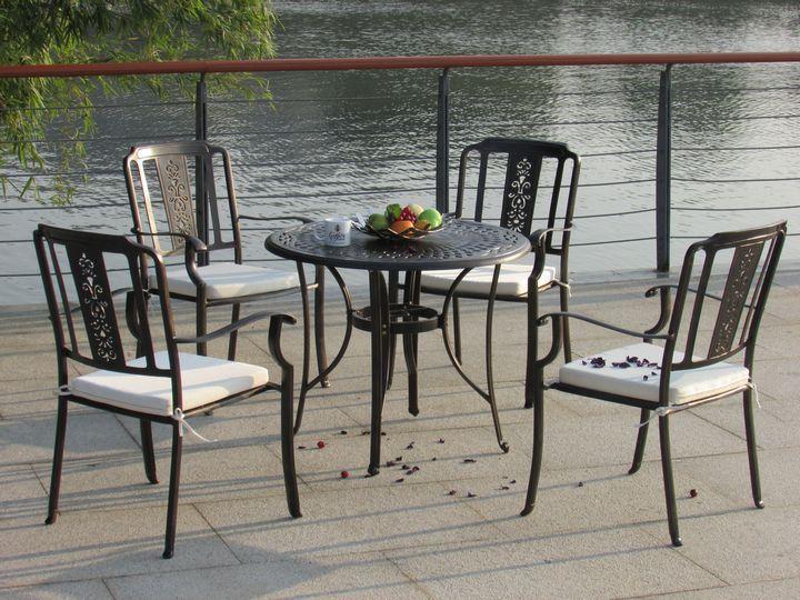 楚工室外铸铝桌椅,庭院铸铝休闲椅批发