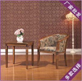 实木长方茶桌  批发简欧布料酒店客厅洽谈办公会所定造休闲桌椅