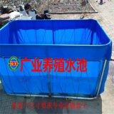 赣州广业帆布厂家专业定做帆布水池  养殖鱼池  折叠活动鱼池