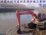 水陸兩用挖掘機出租  淮南水陸挖掘機出租    清淤施工方案水陸挖掘機   打樁機