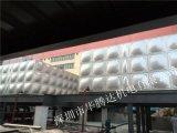 厂家直销组合式不锈钢水箱、消防水箱,华腾达水箱厂定制加工现场安装!