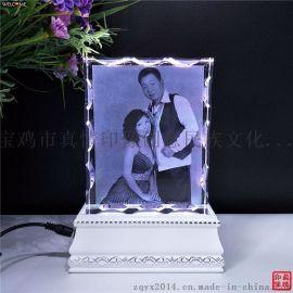 水晶内雕摆件diy定制照片  创意结婚工艺品送闺蜜新婚生日礼品