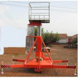 信陽市 息縣啓運液壓電動平臺 雙梯套缸式升降機
