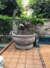 天然石材盆景缸园林景观雕塑 石头鱼缸加工定做 仿古石雕厂家直销