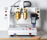 厂家直销高低温双头点胶机  桌面式三轴热熔点胶机