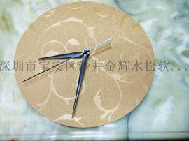 厂家定做欧式中式仿真木纹复古实木中纤板杯垫餐垫壁钟挂钟表钟订做批发