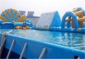 大型水上儿童乐园深海潜艇滑梯充气水池水上冲关玩具