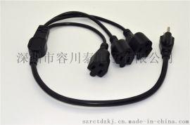 热销美式三插电源线 美标纯铜线 美式UL两芯插头线