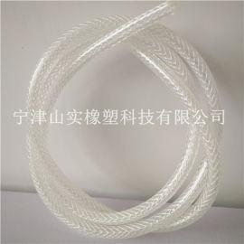 山实厂家批发8mm透明塑料水管纤维管 防爆网纹编织管 透明加线管 网纹增强管