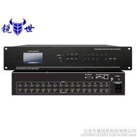 锐世HDMI高清矩阵切换器4进12出拼接屏视频分配器