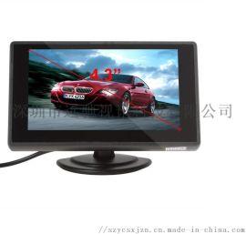 4.3寸镜面微型显示屏监控器,高清视频倒车影像