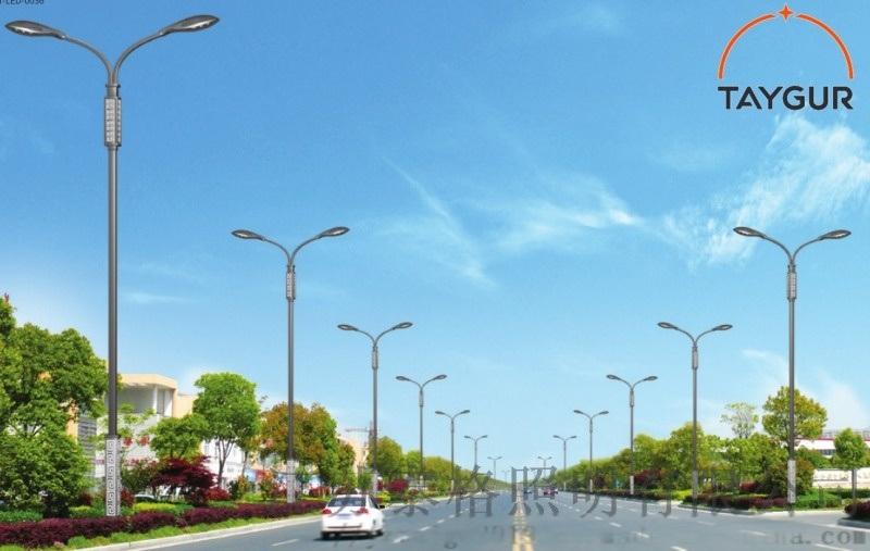 泰格LED照明,方管热镀锌路灯,8米新农村道路照明