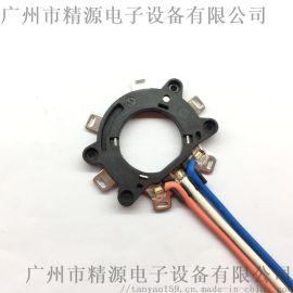 铜片端子和线束焊接,多股线铜端子,广州精源点焊机