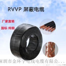 金环宇电线电缆国标RVVP2芯0.5信号电线电缆