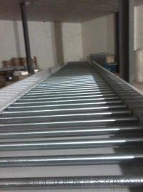 生产分拣倾斜输送滚筒铝型材 线和转弯滚筒线