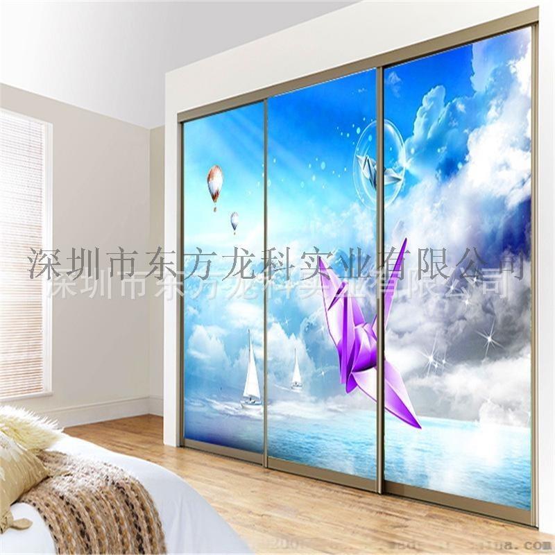 艺术玻璃**加绢夹丝玻璃橱柜移门UV平板打印机