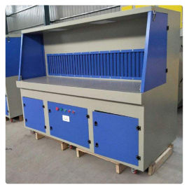 环保吸尘打磨台粉尘回收柜、打磨台