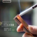 Remax打火机多功能钥匙扣挂件指甲剪刀钳USB充电男  时尚点烟器