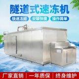 1吨藕块茄子块蔬菜丁隧道式速冻机 糯米粘年糕隧道式速冻机