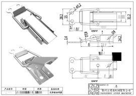 厂家**QF-518 电缆桥架盒S304不锈钢搭扣(图)