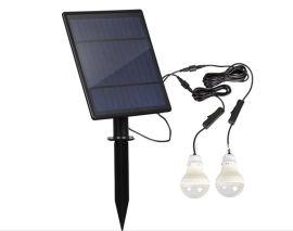 夜市摆摊用太阳能应急灯泡户外露营太阳能灯