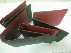 B5直角车线文件夹, 小A4经理夹, PU文件夹, 仿皮三孔资料夹