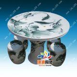 陶瓷桌凳,居家装饰陶瓷桌,陶瓷桌子