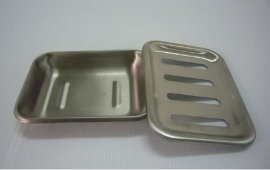 不鏽鋼 肥皂盒 雙層設計可瀝水