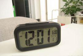 厂家方形LED夜光闹钟 万年历时间床钟 贪睡电子钟 聪明钟 SC1019