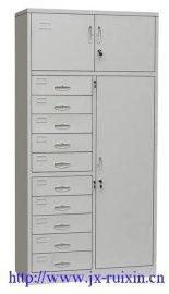 厂家直销带锁铁皮文件柜办公钢制档案柜储物柜财务凭证柜通体三节