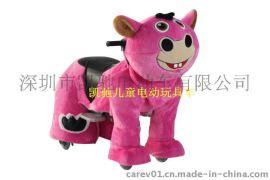 凯驰新款可拆洗双人座毛绒动物电动玩具车-小毛驴
