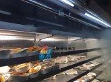 巴奴火锅菜品展示柜,不锈钢喷雾风幕柜,明档火锅喷雾菜架
