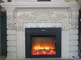 精细雕花壁炉 燃气壁炉 石雕壁炉 取暖壁炉