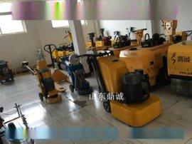 陕西西安手推式地坪翻新混凝土地面打磨机 四盘十二磨头研磨机 智能调速精密度高